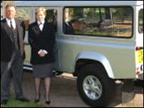 Land Rover funeral