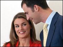 Letizia Ortiz y el Príncipe Felipe