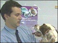Danny Mills and dog