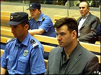 Milorad Lukovic (front right) at court