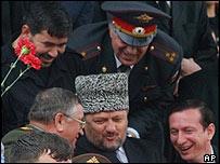 Ahmed Kadyrov, momentos antes de su muerte.