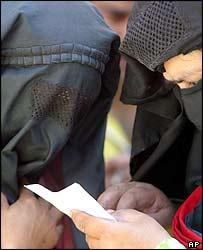 Women voting in Doda, Kashmir
