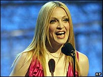 Madonna at the Grammy Awards in 2004
