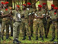A rebel wearing a Che Guevara T-shirt