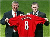 Alex Ferguson y Wayne Rooney