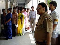 Voters queue in West Bengal