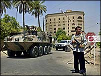 Australian armoured vehicle in Baghdad