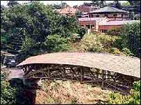 Bamboo bridge in Colombia   Jorg Stamm
