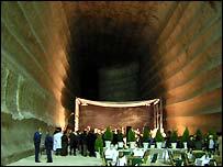 Salt mine chamber