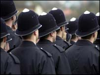 Metropolitan police recruits, BBC