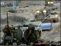 Convoy de soldados israelíes