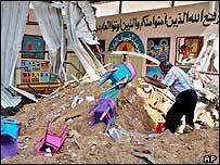 A school destroyed in Israeli operations in Jabaliya camp