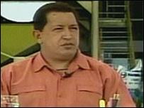 Presidente Hugo Ch�vez (Foto TV programa Al� Presidente)
