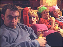 A scene from the BBC sitcom The Royle Family