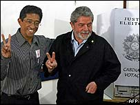 PT candidate for Sao Bernardo do Campo with President Lula