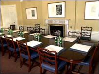 The cabinet room at Bute House in Edinburgh