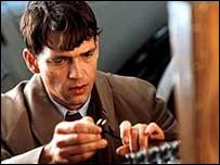 Dougray Scott playing a Bletchley Park code breaker in the film Enigma