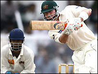 Damien Martyn in action in a tour match
