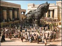 A scene from Troy