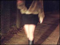 Prostitute plies trade by roadside
