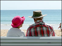 Elderly holidaymakers