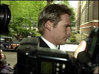 Lee Ryan arrives at court