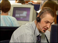 Call centre staff member