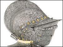 Decorated helmet
