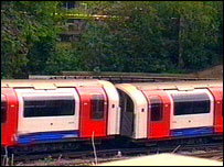Bbc News Uk England London Tube Train Derails Near