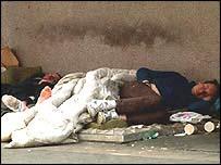 Man sleeping rough
