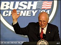 US Vice-President Dick Cheney on the campaign trail