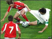 Switzerland and Slovenia in pre-Euro 2004 friendly