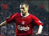 Liverpool's star forward Michael Owen