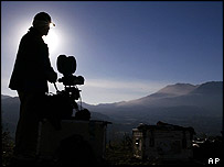 Cameraman watching St Helens on 3 October