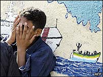 Illegal immigrant in Lampedusa