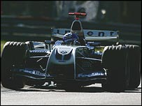 Juan Pablo Montoya in the Williams-BMW FW26