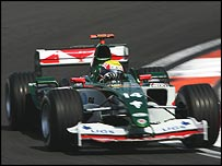 Mark Webber in the Jaguar