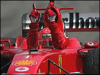 Michael Schumacher and Ferrari were further ahead than ever before