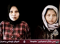 Indonesian women hostages on Al-Jazeera TV