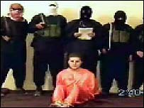 Still from video of Nick Berg's execution, 11 May 2004