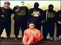 Imagen del video transmitido por internet