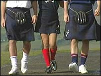 Models wear SFA tartan