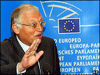 Outgoing EU enlargement commissioner Guenter Verheugen