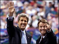 John Kerry y John Edwards