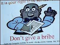 Anti bribes poster