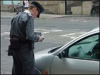 A parking warden