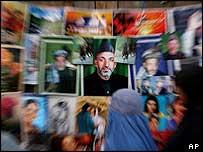 Karzai posters in Kabul