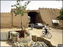 Mud wall gate in Kano