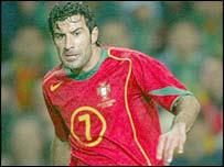 Portugal midfielder Luis Figo