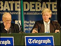 Bill Deedes and Boris Johnson